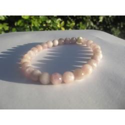 Kunzite avec perles ambre